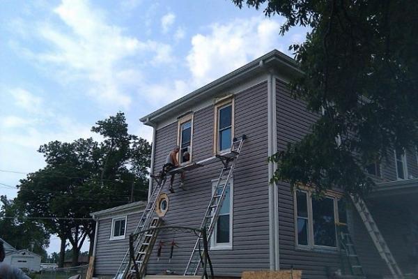 Weber House Window Siding During Renovation